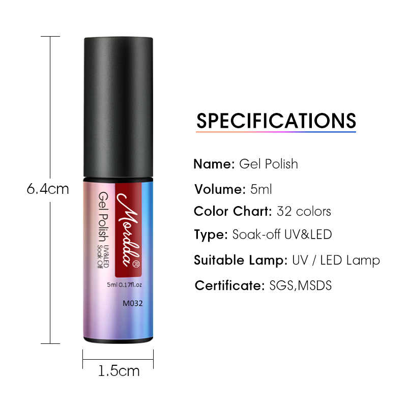 ROHWXY 5mL טהור ג 'ל לכה לספוג את UV ג' ל ציפורניים עיצוב לאורך זמן הניצוץ מזל UV נייל פולני מניקור