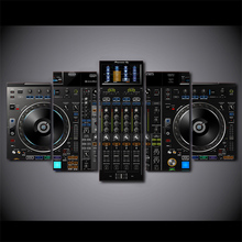DJ Music Player Painting Music Poster