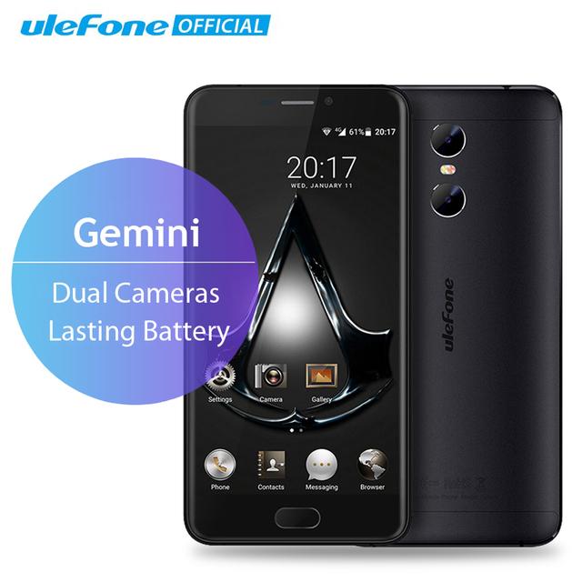 Gemini dual cámaras de nuevo teléfono móvil 5.5 pulgadas fhd ulefone mtk6737t quad core android 6.0 3 gb + 32 gb frente touch id 4g Smartphone