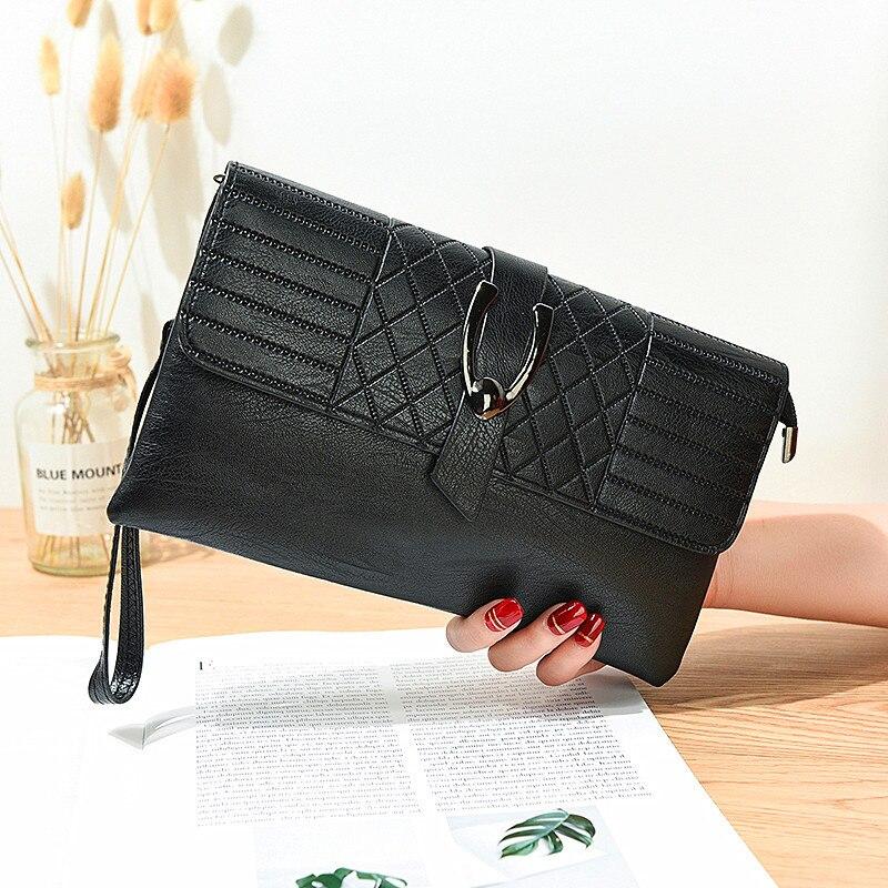 b1cf5a5c8 Nueva moda cartera de PU cuero Hasp de la bolsa del teléfono Simple  inclinación bolso damas bolsos de embrague bolsas para las mujeres 2019 cartera  mujer