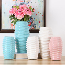 Nordic fashion creativity Ceramic vase Dried flowers Dining table flower arrangement Home decoration