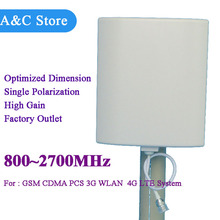 high quality cellular antenna 5pcs/lot 2G 3G 4G-lte antenna 800~2700MHz high gain panel antenna factory outlet customized