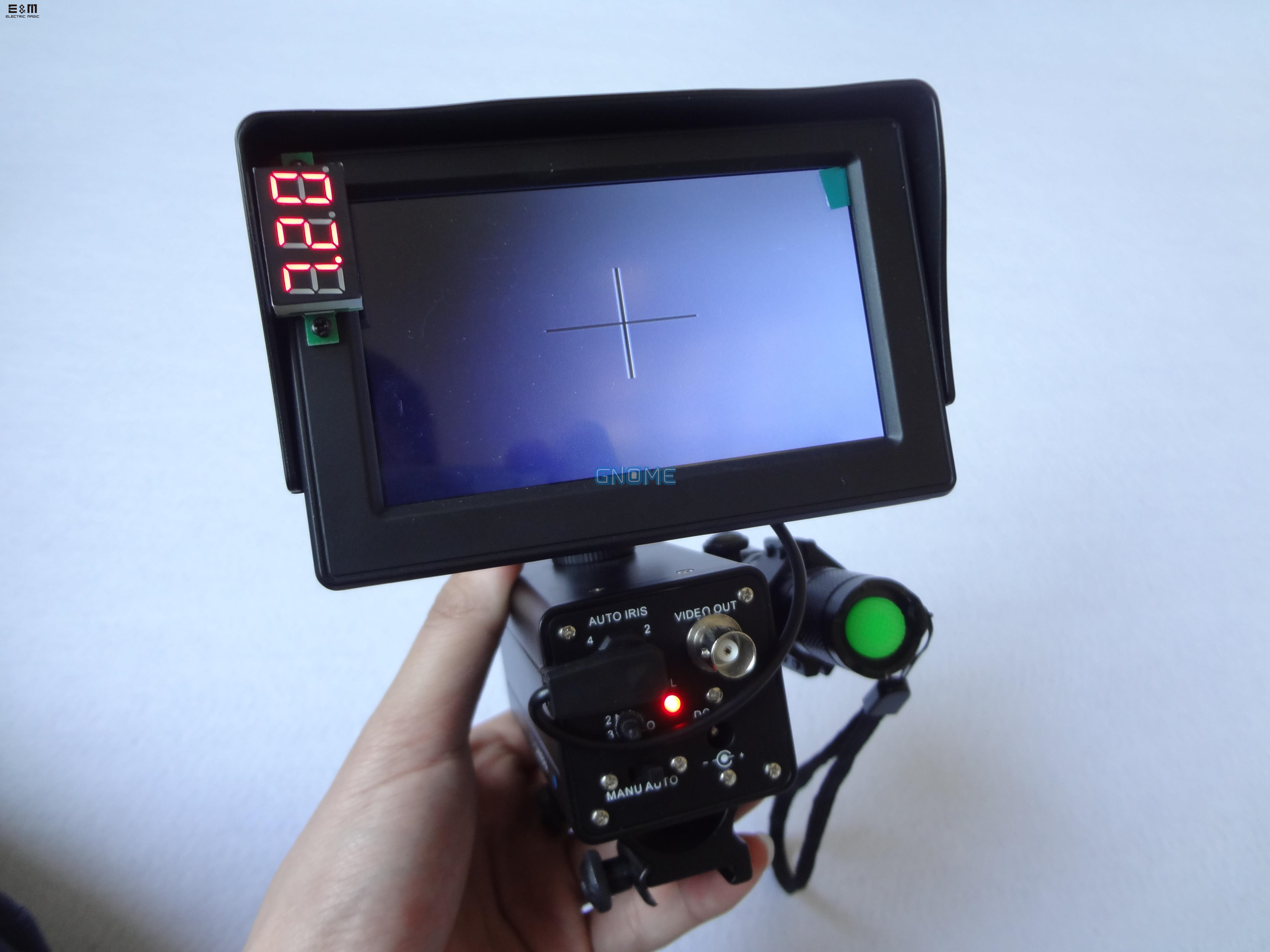 E&M DIY Portable Hand Held Night Vision Riflescope Sight Monocular Hunting With Goggles Scope Hunter NVR Rifle Film Head Display