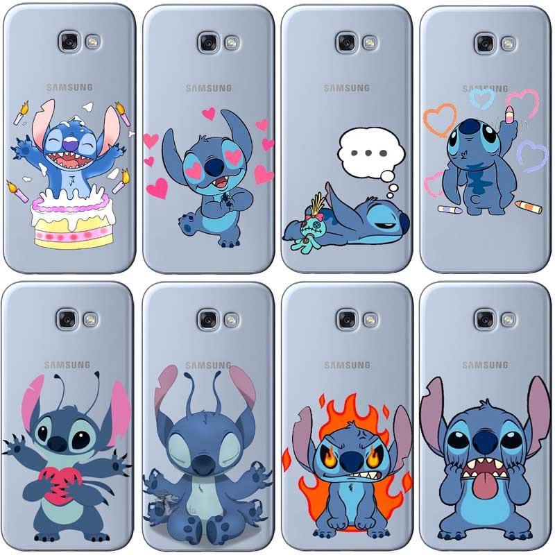 Cute Cartoon Stich Coque Soft Tpu Silicone Phone Case Cover For Samsung Galaxy A3 2016 A5 2017 A7 J3 J5 2015 J7 2017 Phone Pouch
