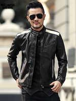 男性秋のファッションスリム pu レザーショートジャケットメトロセクシャル男オートバイのバイカーカジュアル新ジッパー黒、白のジャケット F012