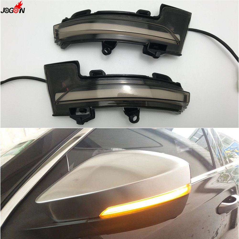 LED Side Wing Rearview Mirror Indicator Blinker Repeater Dynamic Turn Signal Light For Skoda Octavia Mk3 5E 2013 2017 & 2018