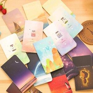 Image 2 - 40 قطعة/الوحدة جديد جميل الرياح سيارة خط مذكرات دفتر الطلاب القرطاسية 80k القرطاسية الكورية بالجملة