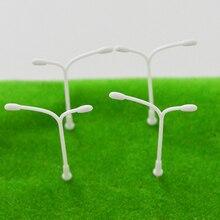Teraysun Lamppost Model 100Pcs 1:500 Plastic Streets Lamp making Light Toys Railway Street