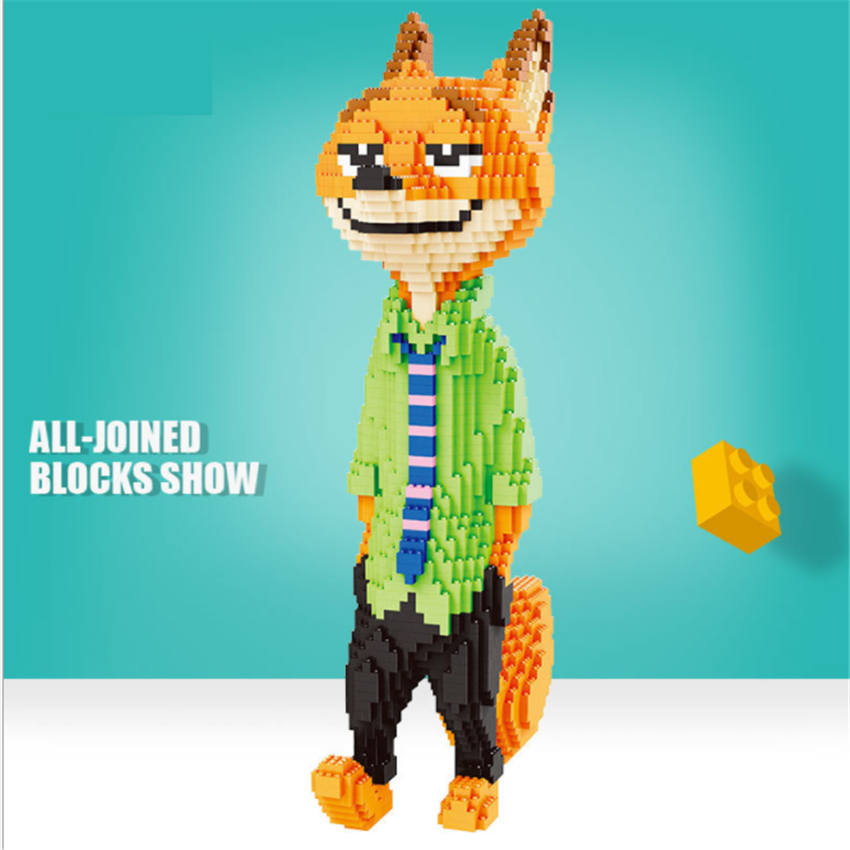 Balody big size blocks Nick fox Model Building Bricks Marioing Doll robot cat Toys Anime Juguetes Gifts for TOY Shop Display
