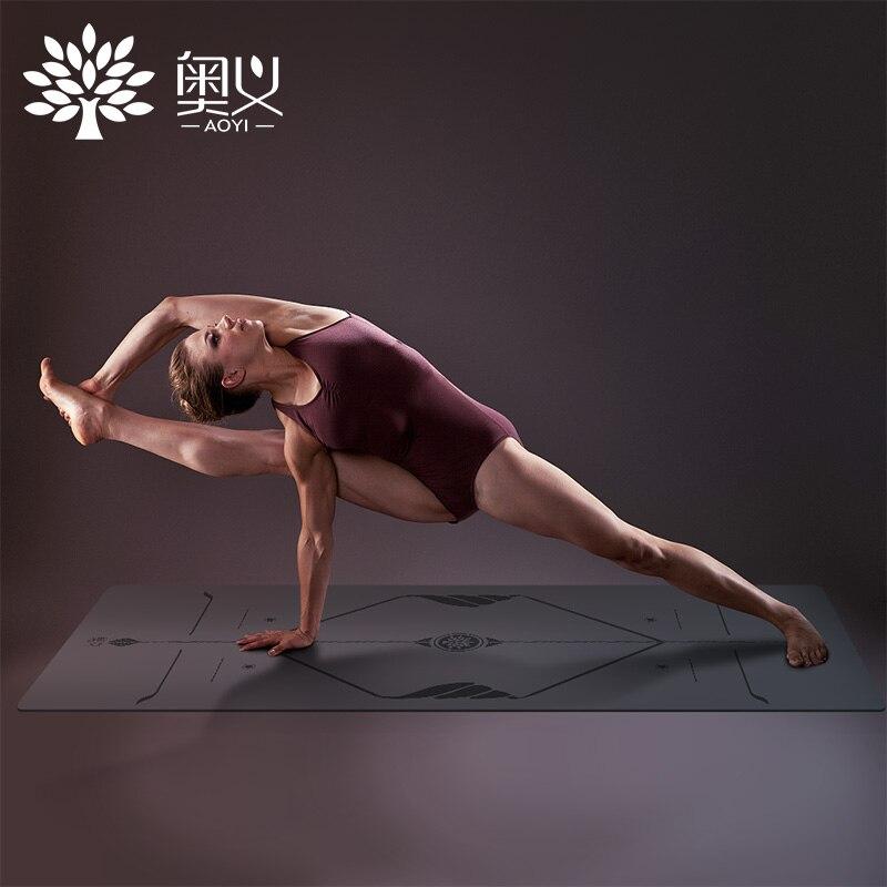 2018 Nouveau 5mm caoutchouc naturel tapis de yoga pour hommes et femmes fitness tapis professionnel élargissement 68 non-slip tapis de yoga