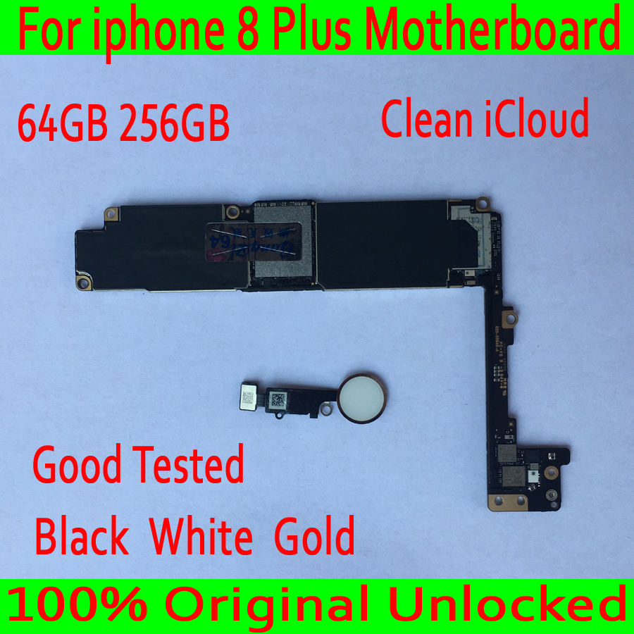 with Touch ID for iphone 8 Plus Motherboard with IOS System,100% Original unlocked for iphone 8 Plus 8P Circuit board+Chips
