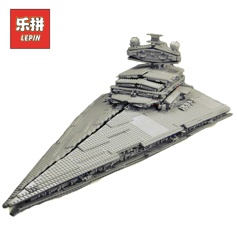 цены LEPIN 05027 STAR WARS DHL 3250Pcs Emperor fighters starship Model Building Kit Blocks Bricks LegoINGlys 10030 to Children Toys