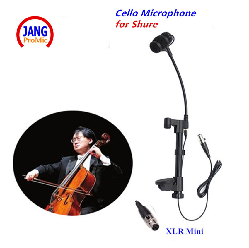 лучшая цена Professional Lapela Cello Microphone Condenser Instrument Microfone for Sennheiser Wireless System TRS 3.5mm Screw Mikrophones
