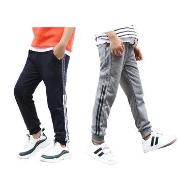 6f85e70a9 Cyjmydch moda Otoño primavera adolescente niños pantalones de Niño  Pantalones de chándal pantalones de Deportes de