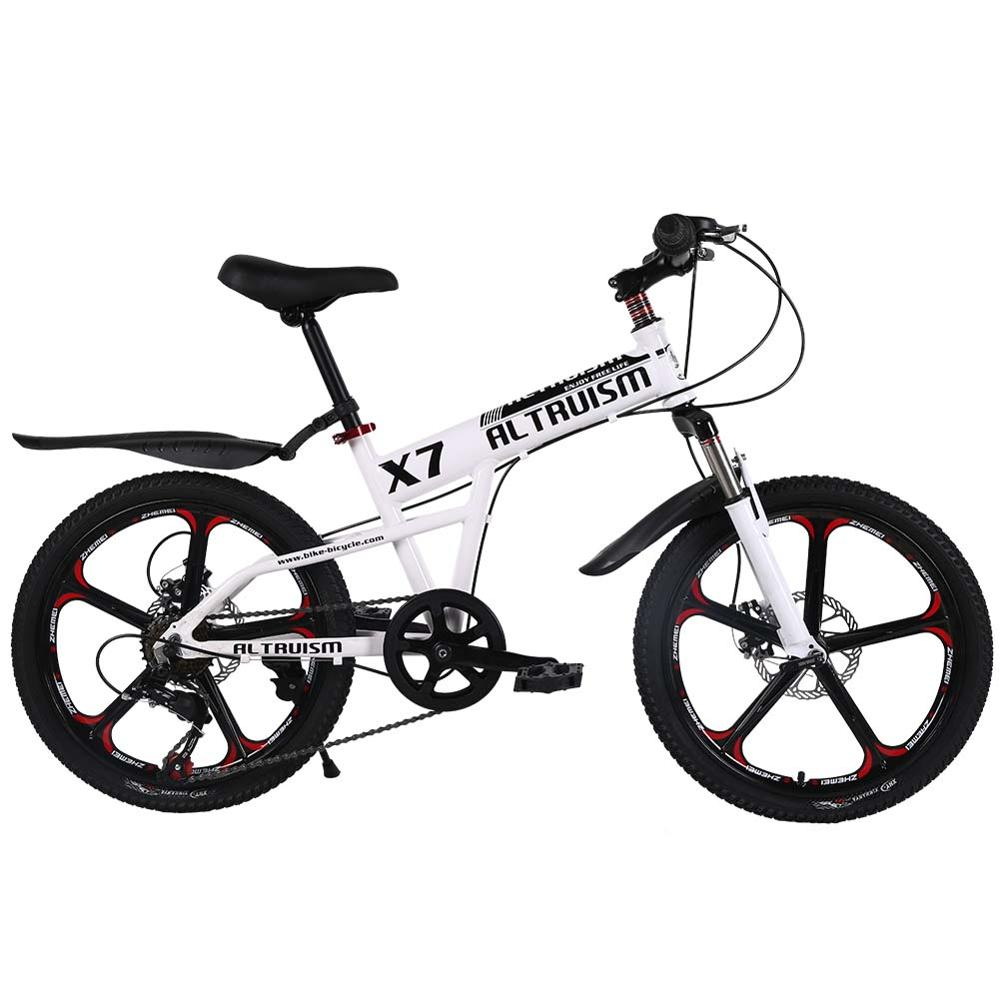 18113dcf5c3 ALTRUISM X7 7 speed 20 inch Kid's Mountain Bike for Boys & Girls Bicycles  Double Disc Brakes Bikes White CE Bicycle