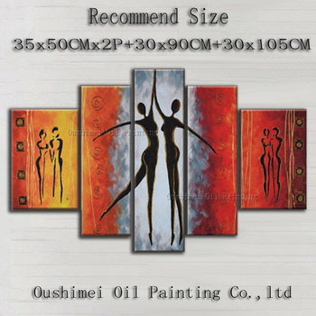Professional Artist Handmade High Quality Modern Abstract Dancer Oil Painting On Canvas Couple Dancing For Wall Decoration