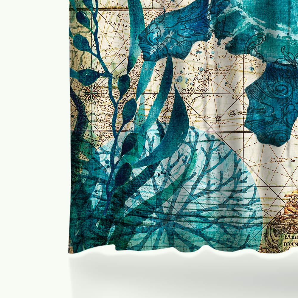 Miracille Sea Turtle Shower Curtain Mat Octopus Home Bathroom Curtains With 12 Hooks Waterproof Polyester Fabric Bath In From