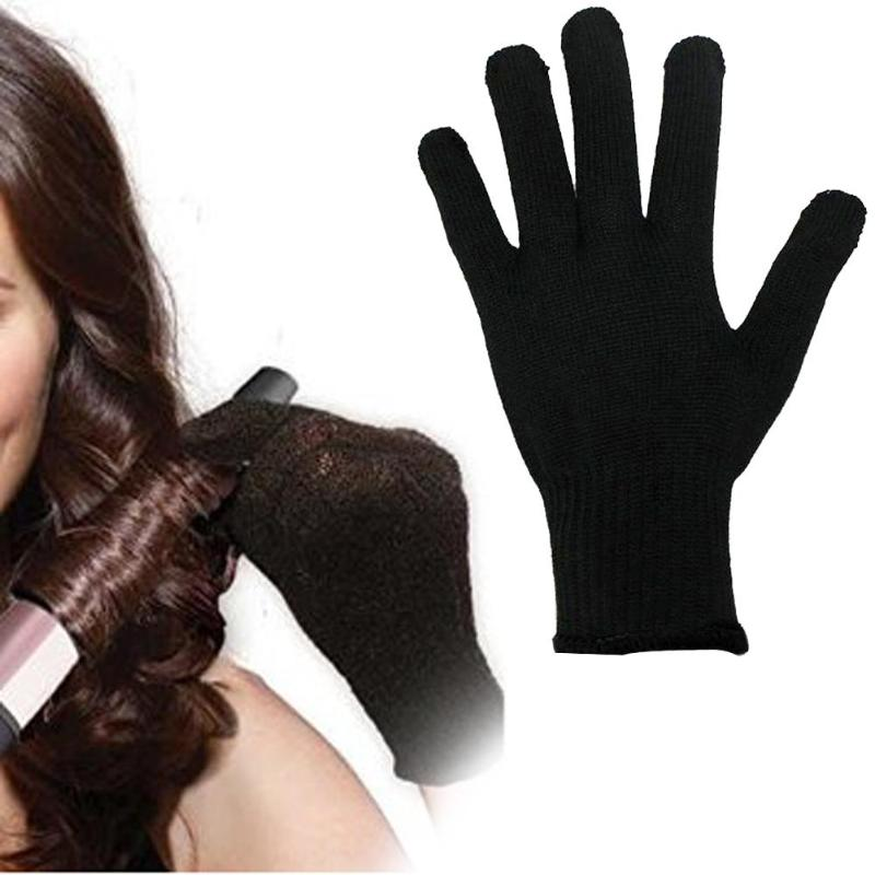1 Pcs Pro Heat Resistant Glove Hair Styling Tool For Curling Straight Flat Iron Black Heat Glove Silicone Gloves G0323