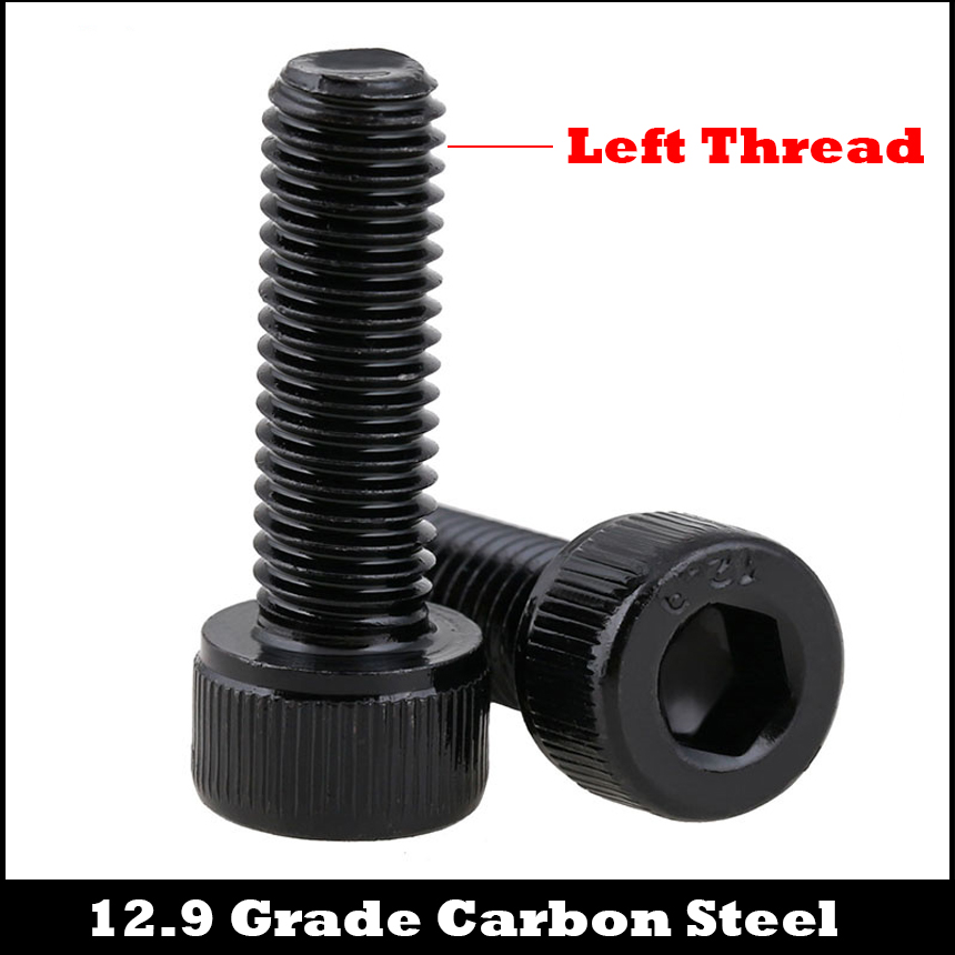 M5 M5*25/30 M5x25/30 12.9 Grade Steel Left Way Hand Left-Handed Opposite Reverse Thread Cap Cup Allen Head Hexagon Socket Screw