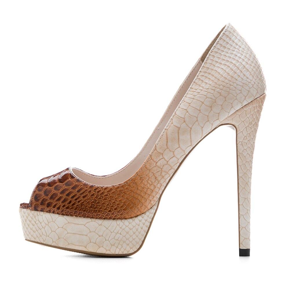 Automne Peu Sur Sexy À Grande Cm Printemps Hauts Talons Femme Nouveau Chaussures 43 33 Profonde 2019 Partie Plateforme Bonjomarisa Marron Taille Pour Glissement 12 Femmes taZxWq