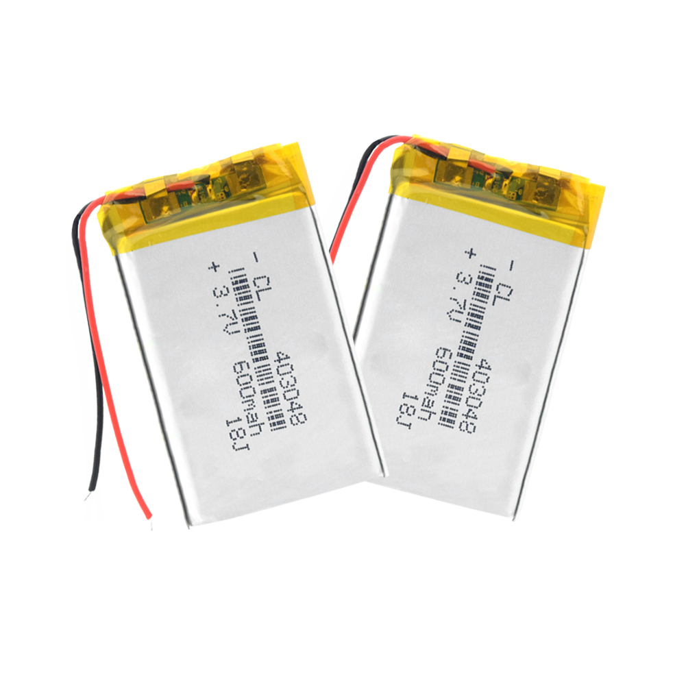403048 <font><b>3.7V</b></font> <font><b>600mah</b></font> 043048 Lithium polymer <font><b>Battery</b></font> with Protection Board For MP3 MP4 MP5 DVR DVD Bluetooth GSP Digital Products image