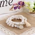 Luxury Multilayer charms Bracelet Fashion Acrylic Alloy Beads Coin Tassel Vintage Bracelets for women boho jewelry wholesale