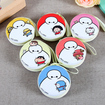 10pcs/lot Cartoon Baymax Earphone Storage Bag Case For Headphone Earbuds Key Coin Hard Holder Box Carrying Hard Hold Case