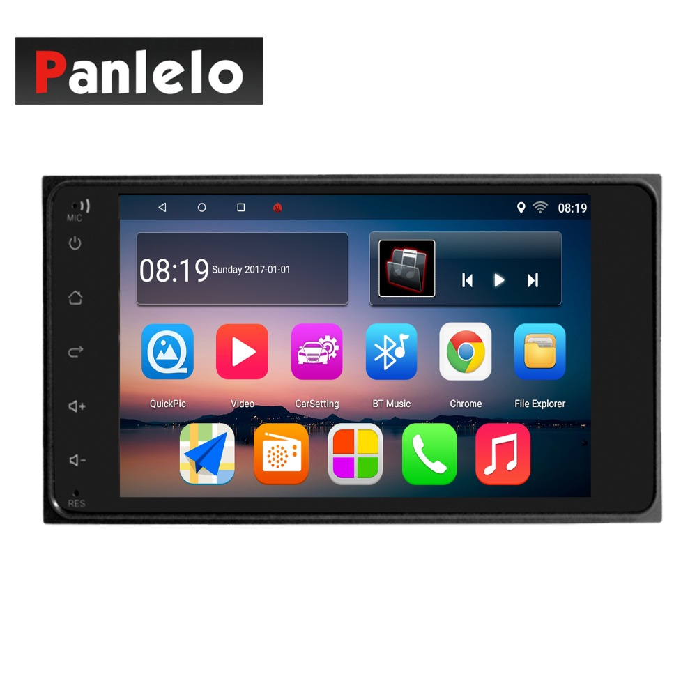 Panlelo S11 2 Din Android Car Stereo for Toyota Corolla 7 Inch Head Unit GPS Navigation Quad Core 1GB RAM 16GB ROM Touch Screen double din android 6 0 quad core 1gb 16gb car stereo 7 inch 1024x600 touch screen head unit gps navigation bluetooth wifi am fm