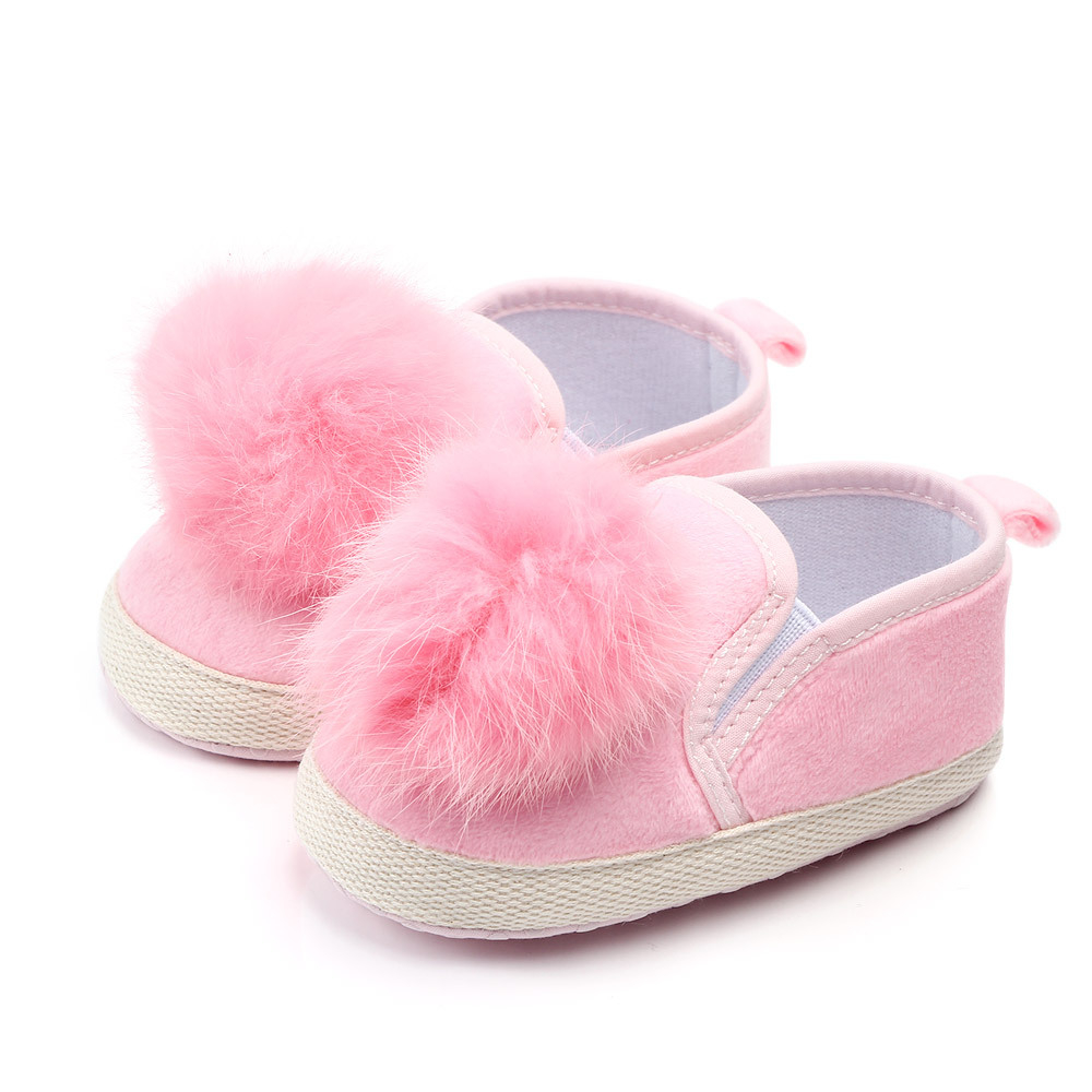 Fashion Faux Fur Baby Shoes Summer Cute Infant Baby Boys Girls Shoes Soft Sole Indoor Shoes