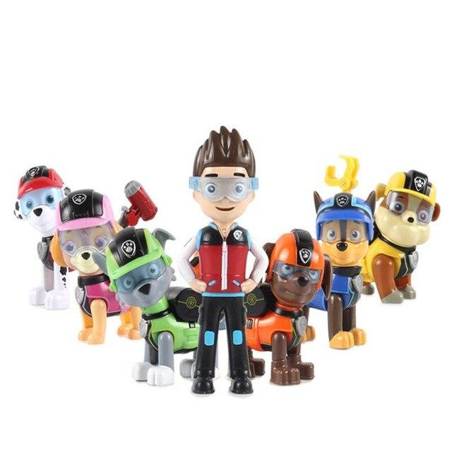 7 pçs/set Pata Patrulha Canina Do Filhote de Cachorro Dog Anime Crianças Brinquedos Action Figure Modelo Patrulha Crianças Presentes