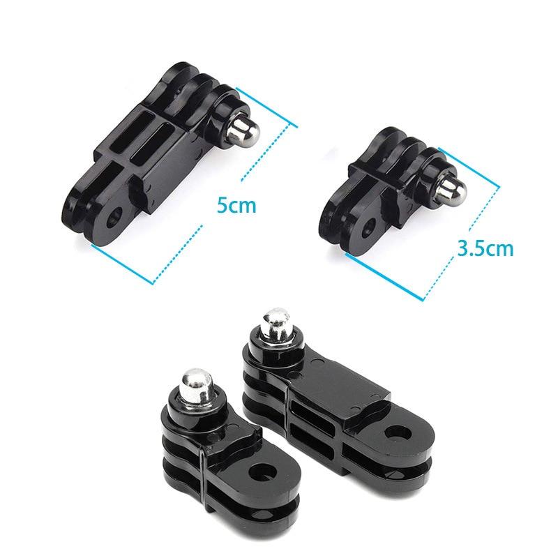 Перейти Pro аксессуары 1 длинный 1 короткий прямой совместных адаптер для идти про 7 6 5 4 3+ 3 2 1 Доставка SJ4000 Sj8 про Джи Осмо Йи 4К H9R
