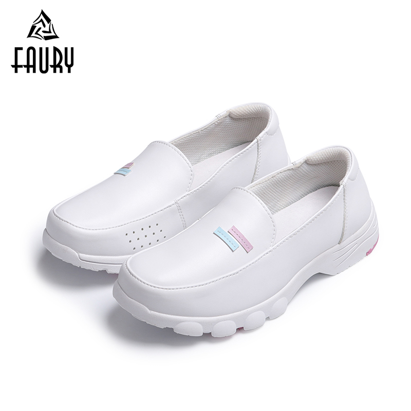2018 New Japan Nurse Shoes Spring White Women's Shoes Flat Ultralight Soft Hospital Medical Doctor Dental Clinic Work Shoes image