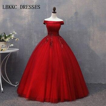 13287e520 Vestido De quinceañera rojo tul con encaje Vestido De bola hinchada De 15  Anos Baile dulce 16 Vestidos 15 Anos