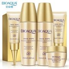 Bioaqua, 24 K, Золотая улитка, дорожный набор для ухода за кожей, против старения, морщин, эссенция, крем для глаз, тонер, очищающее средство для лица с BB