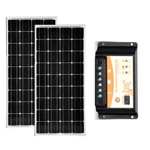 Solar Panel Kit 300w 24v Solar Plate 12v 150w 2 Pcs Solar Battery Charger PWM Controller 12v/24v 20A USB Caravan Roof Car Camp panel solar 12v 150w 2 pcs panneaux solaires 24v 300w battery solar phone charger motorhome caravan car solar tuinverlichting