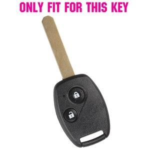 Image 2 - 2 כפתור סיליקון רכב מרחוק מפתח Fob מעטפת כיסוי מקרה עבור הונדה סיוויק אקורד פיילוט Fit Crv S2000 זרם Crosstour תובנה Cr z