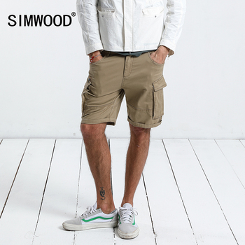 SIMWOOD New Arrive 2019 Summer Shorts Men Sweatpants Fashion Casual High Quality Cotton Vintage Cargo Shorts Plus Size 180009 1