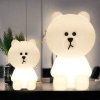 Дети прикроватный светодиодный светильник H50cm детская комната спальня Диммируемый ночной Светильник милый медведь Рождественский подарок