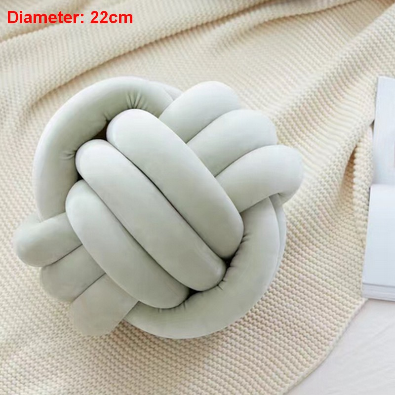 Diameter 22cm New INS Lovely Cartoon Knot Ball Cushion Pillow Baby Calm Sleep Dolls Stuffed Toys For Kids Boys Decor Bed Room