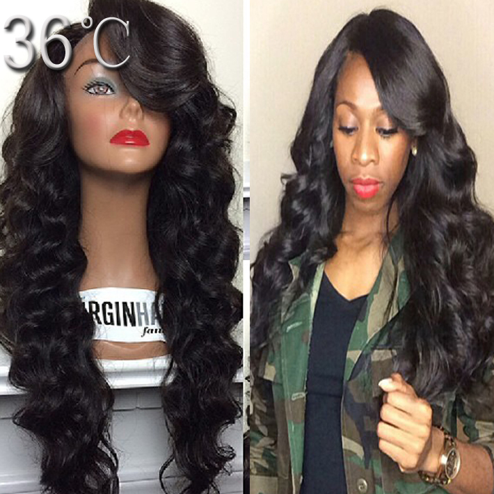 Cheap Human Lace Front Wigs With Bangs 27