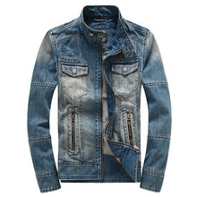 Free Shipping 2016 Big Size Tops Cotton Men's Hoodie Jeans Jacket Outerwear Hooded Winter Coat Denim Coats Jackets
