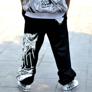 Image 2 - Men pants hip hop spring 2020 new autumn casual youth pants male skull print trousers teenager plus size black gray