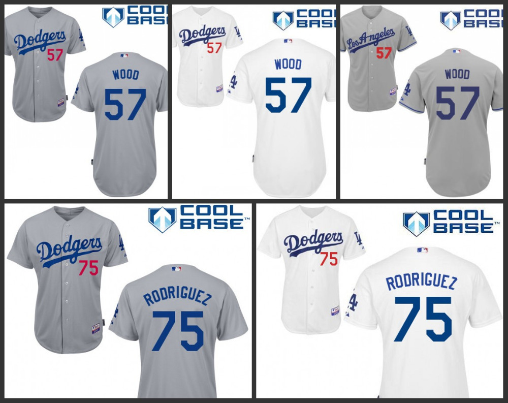 new product 28073 97819 Authentic Cheap Los Angeles Dodgers 57 Alex Wood 75 Paco ...