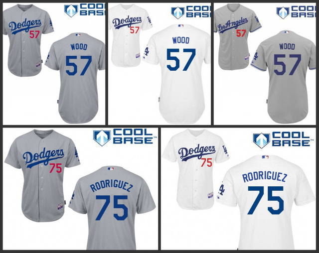 851564067 Authentic Cheap Los Angeles Dodgers 57 Alex Wood 75 Paco Rodriguez Jersey/ shirt la dodgers throwback baseball jerseys stittched