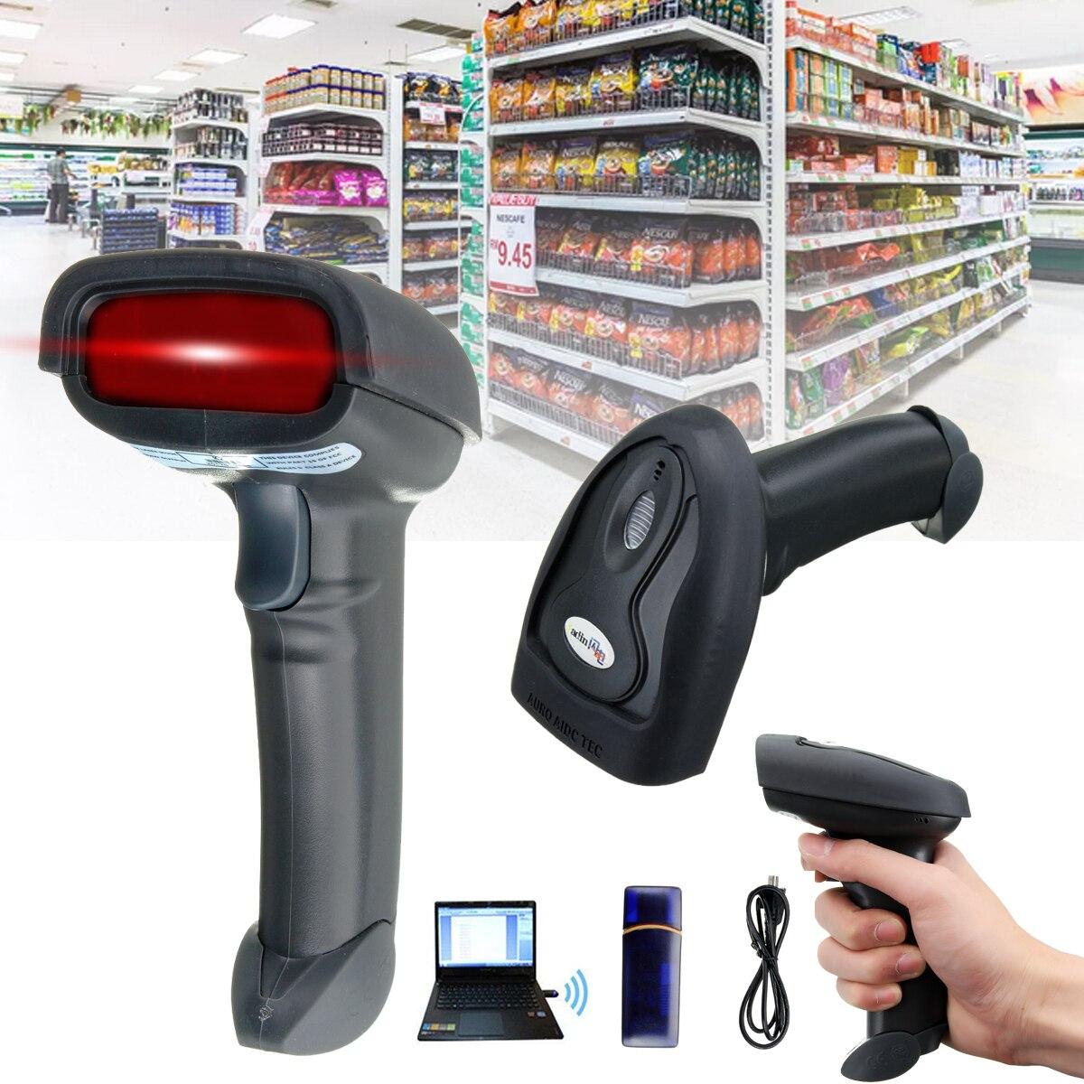 Беспроводной сканер Wi-Fi лазерный ручной сканер штрих-кода 2,4 г USB POS сканирования сканер штрихкодов читатель сканирования пистолет для супер...