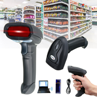 Wireless Scanner Wifi Laser Handheld Scanner Barcode 2.4G USB POS Scan Bar Code Scanner Reader Scan Gun for Supermarkets