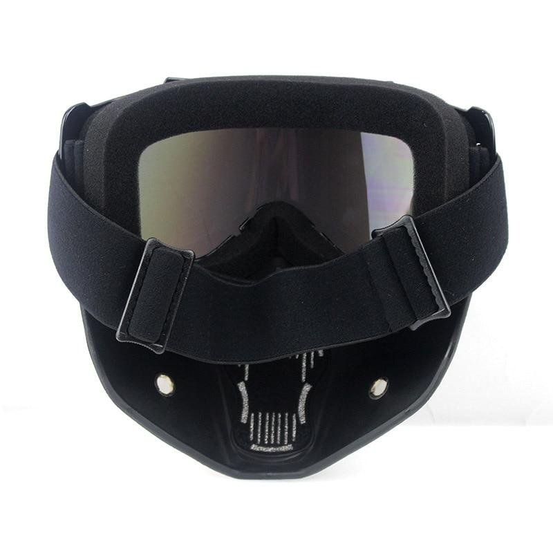 motorcykel ansiktsmask dammmask med avtagbar skyddsglasögon och - Motorcykel tillbehör och delar - Foto 6