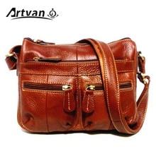 ضمان 100% جلد طبيعي المرأة رسول حقيبة كتف خمر الإناث Crossbody لينة حقائب تسوق عادية للسيدات MM23