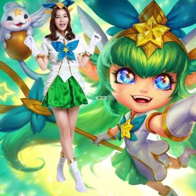 Lulu Fae Sorceres Pix Cosplay Prop Star Guardian Plush Doll Toy Sa