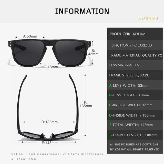 Kdeam Durable Lightweight Polarized Sunglasses 6